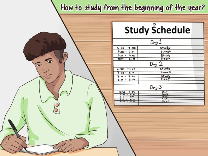 How to study from the beginning of the year?