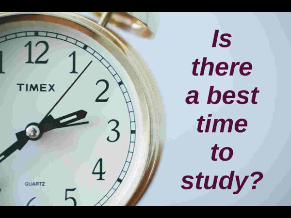 is there a best time to study?