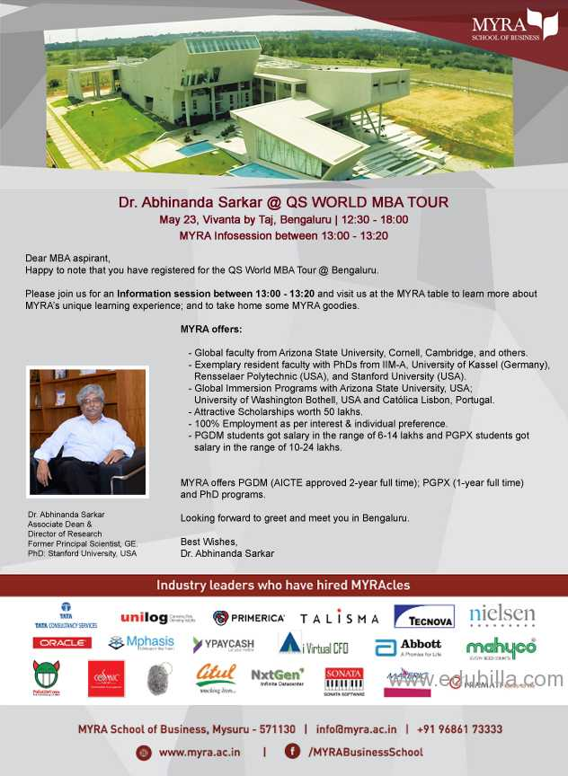 """Information Session"" ""QS MBA Tour 23 May Bangalore"""