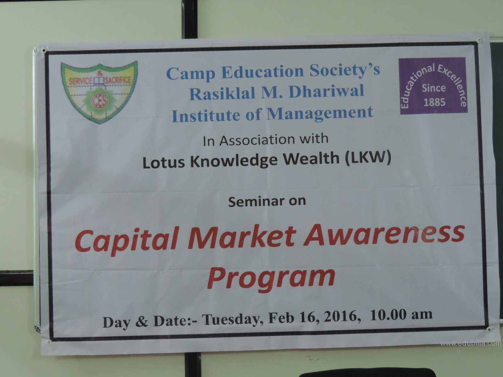 Capital Market Awareness Program 2016