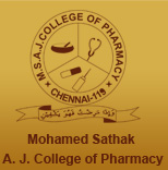 MOHAMED SATHAK A.J. COLLEGE OF PHARMACY, CHENNAI