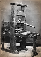 Johannes Gutenberg-Printing Press with Movable Metal Type