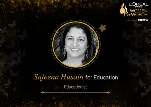 4e/a8/awarded-for-excellence-in-education-safeena-husain.jpg