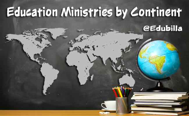 Education Ministries by Continent