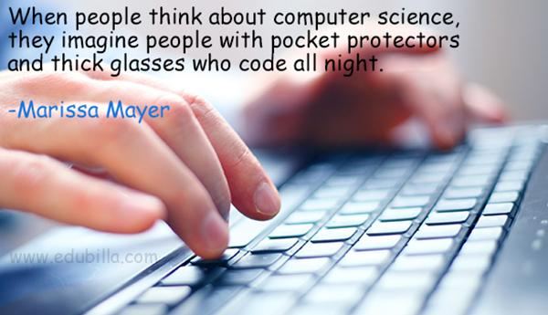 When people think about computer science, they imagine people with pocket protectors and thick glasses who code all night.