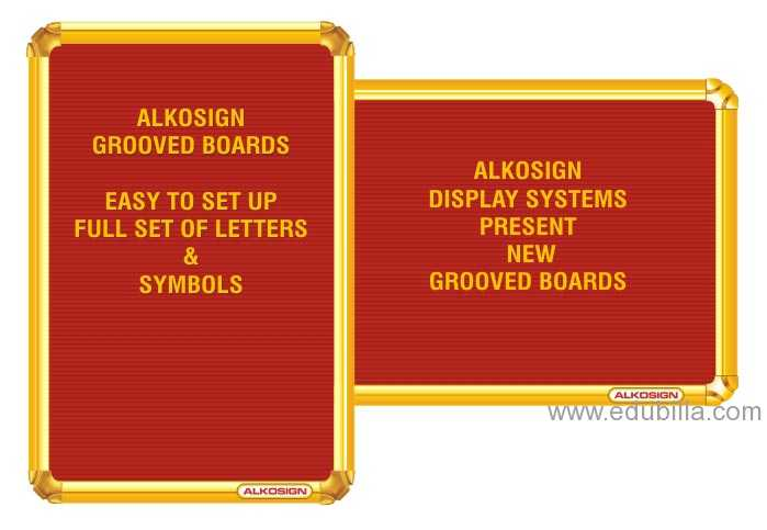 Alkosign Grooved Felt Boards