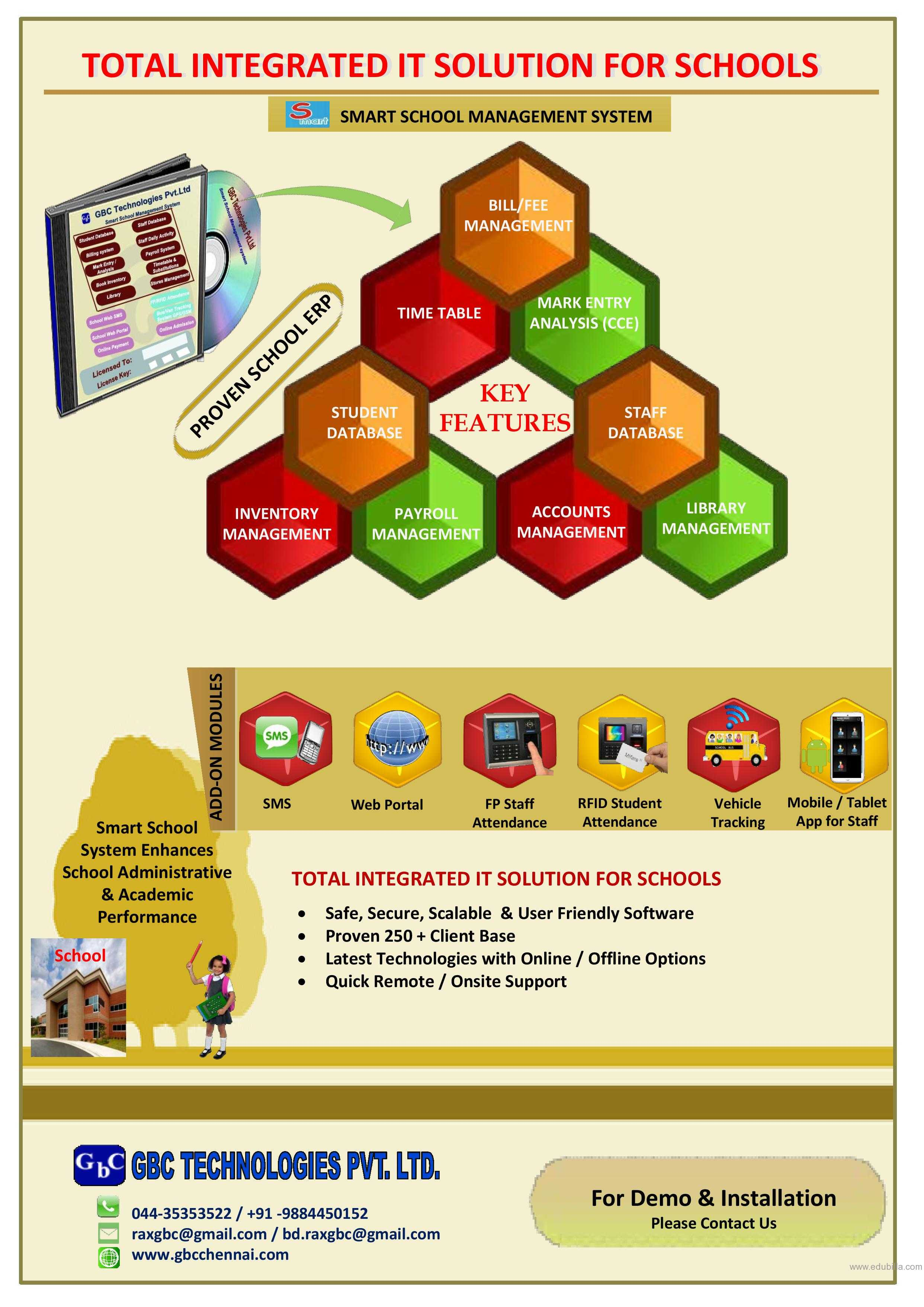 Smart School Management System- ERP
