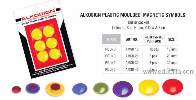 Alkosign Plastic Modulded Magnetic Symbols