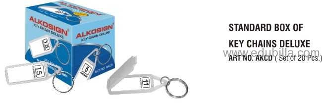 Standard Box Of Key Chain Deluxe