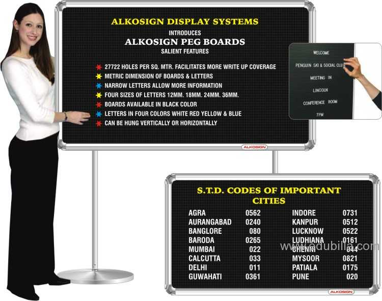 ALKOSIGN DISPLAY  PEG BOARDS