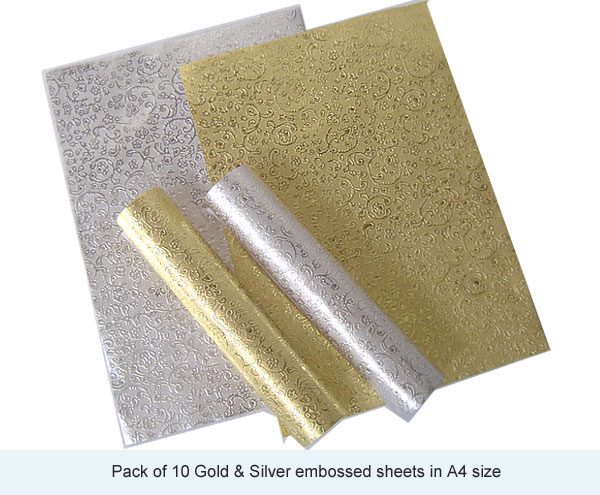 Metallic poster board