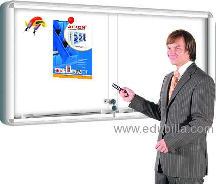SLIDING GLASS MAGNETIC WHITE NOTICE BOARD